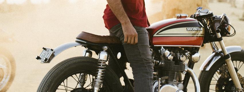 Guy on Honda Bike