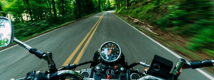 Motorcyclist POV ride