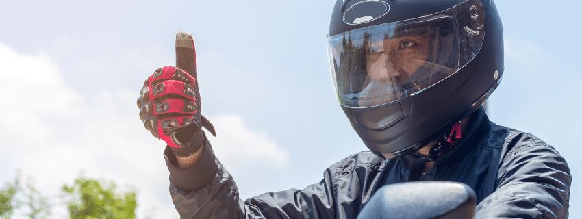 safe motorcycle rider