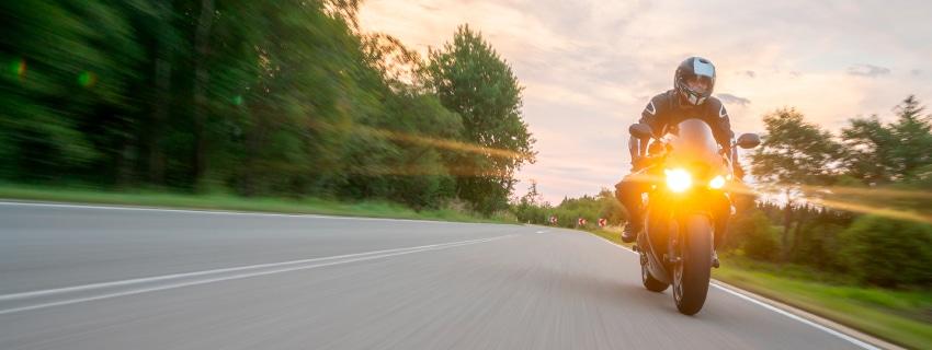 Motorcyclist rider